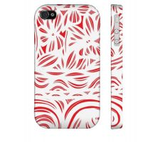 Buy Gradle Red White Flowers Floral Botanical Iphone 4/4S Phone Case