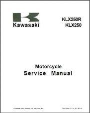 Buy Kawasaki KLX250 KLX250R KLX300R Service Repair Manual CD .. KLX 250 300 R