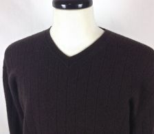 Buy Apt 9 Cashmere Sweater XL Mens Brown Long Sleeve