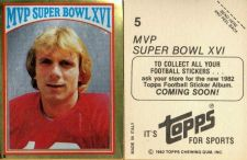 Buy VINTAGE JOE MONTANA SAN FRANCISCO 49ers 1982 TOPPS GOLD FOIL STICKER #5