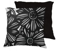 Buy Scheerer 18x18 Black White Pillow Flowers Floral Botanical Cover Cushion Case Throw P