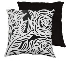 Buy Caal 18x18 Black White Pillow Flowers Floral Botanical Cover Cushion Case Throw Pillo