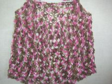 Buy Hand Crocheted Pink Camo Lacy Shawl Wrap Capelet