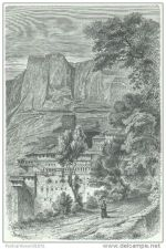 Buy GREECE - MONASTERY OF MEGASPHILION - engraving from 1884