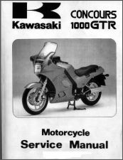 Buy 86-00 Kawasaki 1000GTR Concours Service Repair Manual CD .. 1000 GTR