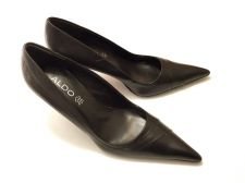 Buy ALDO Women's Leather Pointy Shoes Heels Size 40 EU 10 US Dark Brown