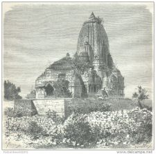 Buy INDIA - TEMPLE OF VRIJ IN CHITTORE - engraving from 1872