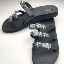 Buy Grandco Beaded Sandals Flip Flop Slides Women Shoes Pools Beach Black 6 9 10