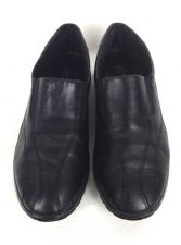 Buy Ecco Shoes 39 8 Womens Black Leather Loafers