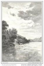 Buy TIBET - THE RED RIVER - engraving from 1891