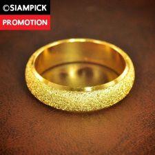 Buy Thai Baht 22k 24k Plain Wedding Ring Size 5 6 7 8 Yellow Gold GP Jewelry R002 GF