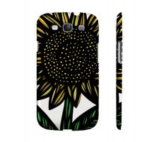 Buy Messerly Yellow Black Flowers Samsung Galaxy S3 Phone Case