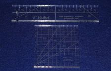 """Buy 2 Piece Ruler Set. 3"""" Square & 6"""" Long -Acrylic ~1/4"""" thick. Quilting/Sewing"""