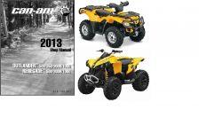 Buy 2013 Can-Am Outlander / Renegate 500 650 800R 1000 Service Repair Manual CD