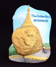 Buy 3D SCULPTURE FRIDGE MAGNET MEMORIAL THE GOLDEN ROCK MYANMAR SOUVENIR COLLECTIBLE