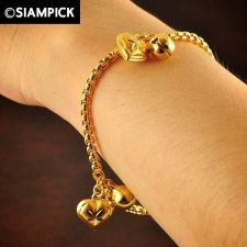Buy Thai 22k 24k Baht Yellow Gold Plated GP Bracelet Box Chain Bangle Jewelry B020