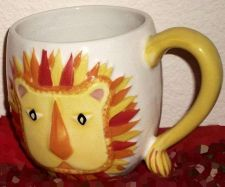 Buy Cup set of 4, Dishwasher safe, Microwave Safe,Porcelain Lions and Elephants