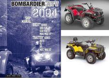 Buy 2004 Can-Am Traxter Quest ATV Service Repair Manual CD - BRP 500 650 MAX XL XT