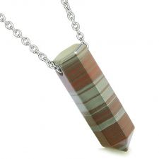 Buy Amulet Lucky Crystal Point Wand Blue Goldstone Bullet Shape Pendant 22 Inch Necklace