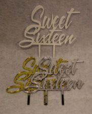 """Buy Sweet Sixteen Birthday Cake Toppers - 1/8"""" Acrylic -"""