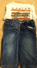 Buy Calvin Klein The Childrens Place Outfit Jeans & Shirt Lot Of 3 Size 6-9mos Boys
