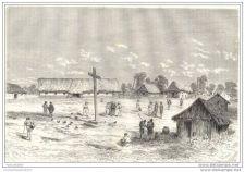 Buy PERU - MISSION OF SARAYACU - engraving from 1865