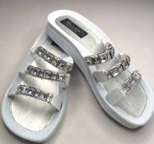 Buy Grandco Jeweled Sandal Flip Flop Slides Women Footwear Pools Lake White 7 8 9 10
