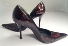 Buy Stuart Weitzman Stiletto High Heels Pump Tortoiseshell Patent Leather Women Sz 7