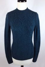 Buy Free People Sweater XS Womens Blue Wool Long Sleeve
