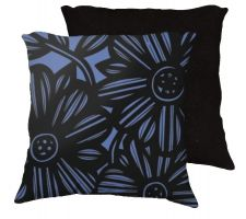 Buy Lafauci 18x18 Blue Black Pillow Flowers Floral Botanical Cover Cushion Case Throw Pil