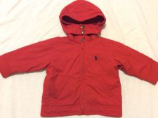 Buy Ralph Lauren Polo Boys Red Insulated Hoodie Jacket Size 12m