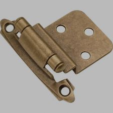 Buy 2 pc Belwith P143-AB,Surface Self-Closing 3/8'' Antique Brass Cabinet Hinge