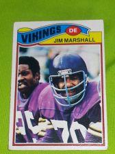 Buy VINTAGE JIM MARSHALL VIKINGS SUPERSTAR 1977 TOPPS #105 FR-GD