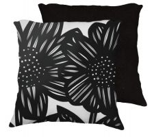Buy Opielski 18x18 Black White Pillow Flowers Floral Botanical Cover Cushion Case Throw P