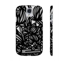 Buy Capponi Black White Flowers Samsung Galaxy S4 Phone Case