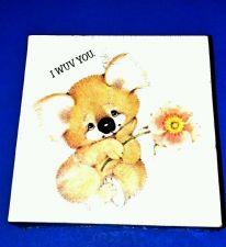 Buy Vintage Springbok Jigsaw Puzzle Mini 77 pieces I Wuv You Hallmark 1977 Koala MIB