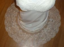 "Buy VTG VAN RAALTE OPAQUELON White Nylon Nightgown Full Slip 9"" Lace Hem S/M 30-32"