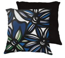 Buy 22x22 Kroninger Blue White Black Pillow Flowers Floral Botanical Cover Cushion Case T