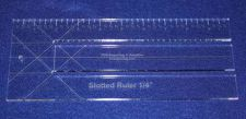 """Buy 10"""" Slotted-Ruler - 1/4"""" Slots - Acrylic ~1/4"""" thick. Quilting/Sewing"""