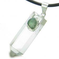Buy Yin Yang Balance Powers Amulet Black Obsidian, White Green White Quartz Lucky Charm B