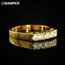 Buy 24k CZ Round Wedding Ring Thai Baht Yellow Gold GP Size 6.5 Fashion Jewelry 20