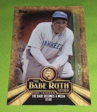 Buy MLB BABE RUTH YANKEES SUPERSTAR 2015 TOPPS BABE RUTH STORY INSERT #BR-10 MNT