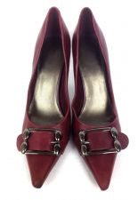 Buy Nine West Shoes 6 Womens Red Leather Heels