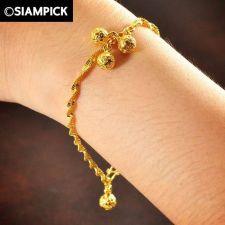 Buy 22k 24k Thai Baht Yellow Gold Plated GP Bead Bracelet Chain Bangle Jewelry B062