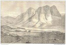 Buy EGYPT - SINAI MOUNTAIN - engraving from 1864