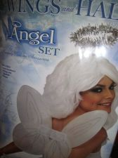 Buy Angel wings and halo set cosplay school party costume accessory adult size