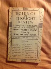 Buy SCIENCE OF THOUGHT REVIEW Applied Right Thinking Henry T. Hamblin April 1950
