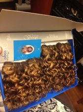 Buy 2 Packs Curly Light And Dark Brown Highight Hair Extensions