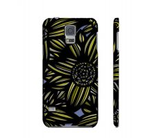 Buy Shido Yellow Blue Flowers Samsung Galaxy S5 Phone Case