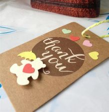 Buy US Seller Cute Bear Thank You Tag- Set of 10